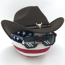 Polandball Plush ToysUnited States of America Ball and Western cowboy hat Doll USA countryballs plushies Cosplay  for Gift 20CM