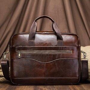 Image 5 - מפורסם מותג 2020 גברים תיק עסקי תיק נסיעות עור מחשב נייד תיק גבר מזדמן תיק נסיעות כתף שקיות