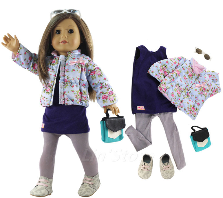 Fashion Doll Clothes Set Toy Clothing Outfit For 18