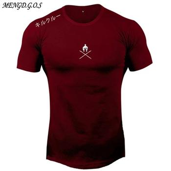 Bawełniana męska koszulka 2020 nowa letnia męska odzież sportowa jogger outdoor casual męska koszulka moda marka odzież męska tanie i dobre opinie MENGD G O S Krótki CN (pochodzenie) O-neck tops Tees Regular sleeve Suknem COTTON spandex Na co dzień Drukuj