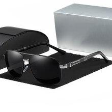 Óculos de sol homem polarizado condução revestimento óculos de sol para homem marca de luxo designer piloto óculos uv400 gafas de sol hombre 0960