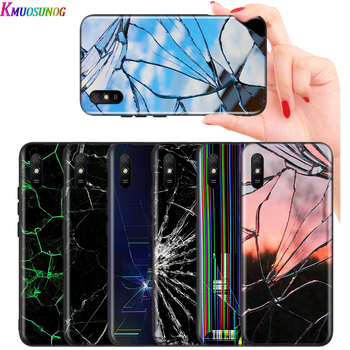 Craked screen For Xiaomi Redmi K30 Ultra 10X 9C 9A 9 Prime GO K20 8A 8 7A 7 S2 6A 6 5 4X Pro 5G Black Phone Case image