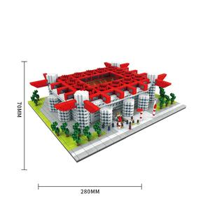 Image 5 - ספורט תואם כדורגל אצטדיון שדה בניין בלוקים לבני העיר סטי עומד כדורגל שער כדורסל משפט בסיס צלחת