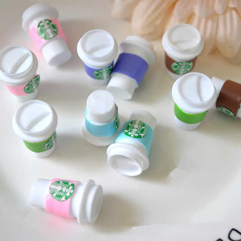 5/10PCS Resin Coffee Cup Slime Charms Plasticine Slime Accessory Beads Supplies For DIY Craft Decoration