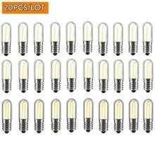 20PCS LED Pode Ser Escurecido COB Filamento Lâmpadas Mini E12 E14 1W 2W 4W Lâmpadas para Geladeira geladeira Freezer Iluminação máquina de costura