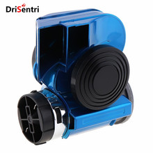 12V 139dB  Car Lacquer Blue Oblique Speaker Snail Compact Dual Air Horn for Vehicle / Motorcycle ATVs New