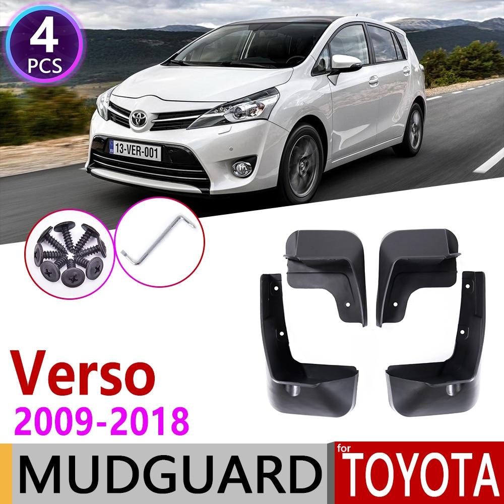 Mudflap For Toyota Verso 2009~2018 AR20 Fender Mud Guard Splash Flaps Mudguard Accessories 2010 2011 2012 2013 2014 2015 2016