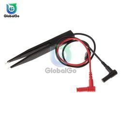 Digital Multimeter SMD Tester Inductor Test Clip Multimeter Probe Lead Tweezers for Inductance Resistor Multimeter Capacitor