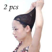2 Pcs Stretchable Mesh Wig Cap Elastic Hair Snood Nets for Cosplay Fashion(China)