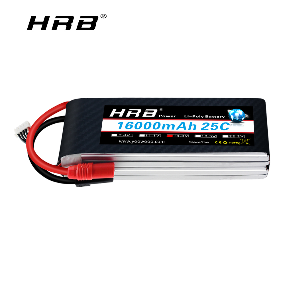RC <font><b>Lipo</b></font> Battery <font><b>4S</b></font> 14.8V <font><b>16000mAh</b></font> 25C XT150 Connector Electric bike 48v 16ah Battery For RC Car Airplane helicopter Tank Toy image