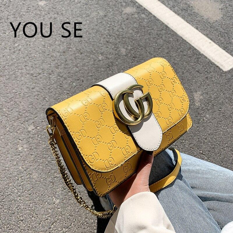 2020 New small handbags Wild Shoulder/Crossbody Bag GD Square Sling Bag Fashion luxury designer handbags women bags alexa|Shoulder Bags| - AliExpress