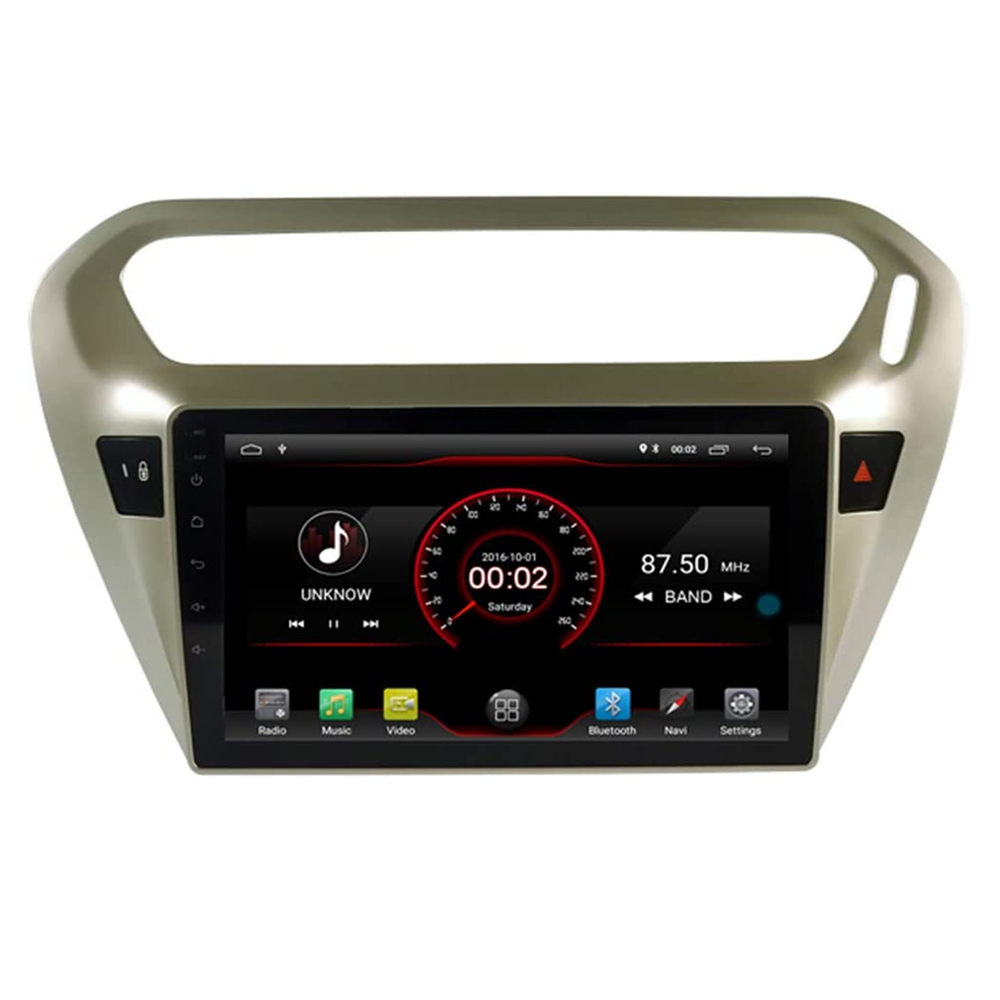For Peugeot 301 Citroen Elysee 2013-2018 2 din 9 Car Multimedia player auto stereo radio GPS Navigation WIFI BT image