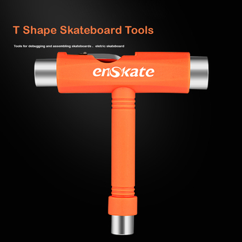 All-in-One Skate Tools Multi-Function Portable Skateboard T Tool Accessory With T-Type Allen Key And L-Type Phillips Head Wrench