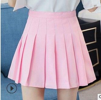 CALOFE 2019 New Autumn High Waist Ball Pleated Skirts Korean Skirt Solid A-line Sailor Skirt Plus Size Harajuku School Uniform
