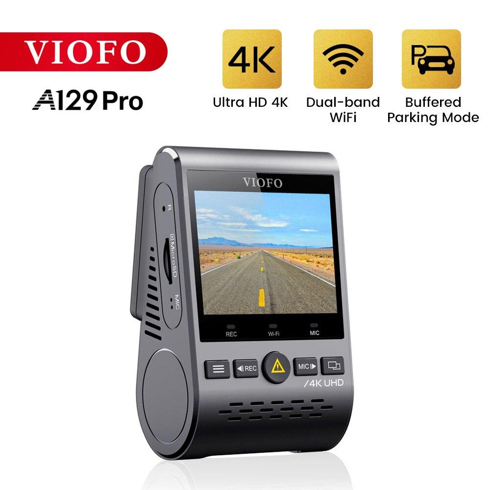 Видеорегистратор VIOFO A129 Pro Ultra HD 4K, Автомобильный видеорегистратор sony 8 Мп, датчик gps, Wi-Fi, режим парковки, g-сенсор, супер ночное видение, автомо...