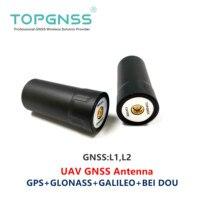 2 個 UAV RTK GNSS ハンドヘルド受信機ヘリ GNSS アンテナ RTK GNSS GPS アンテナ GLONASS ガリレオ北斗 ZED-F9P SMA-J TOP508