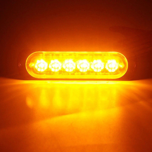 Янтарный 6 светодиодный s автобуса/грузовика/прицепа грузового автомобиля 12 V-24 V светодиодный светильник с боковой габаритный фонарь светильник Водонепроницаемый светодиодный светильник Светодиодные индикаторы на грузовиках парковка светильник