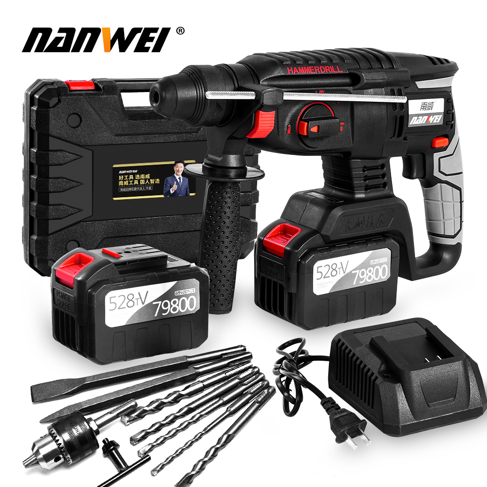 New Arrival Power Tools 21V Electric Wireless Cordless Impact Hammer Drill