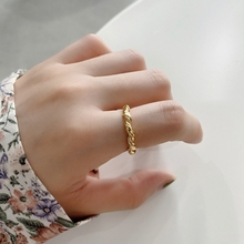 Elegant Winding Rope Ring 925 Sterling Silver Messy Open Ring Personality Western Europe 18k Gold Ring For Women Fine Jewelry 925 sterling silver personality retro winding ring ladies old thai silver twist open ring fine jewelry party elegant accessories