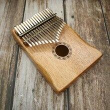 17 מפתח אצבע קלימבה Mbira Sanza אגודל פסנתר כיס גודל תמיכה תיק מקלדת מרימבה עץ כלי נגינה חדש קלימבה