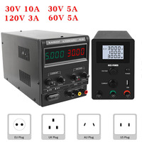 LCD Digital Adjustable Switching DC Power Supply Laboratory 30V 10A 60V 5A 120V Voltage Regulator Lab Digital Bench Source 220 v|Switching Power Supply|   -
