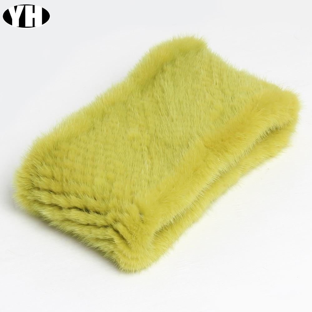 Fashion Lady Real Mink Fur Scarf Headbands Winter Warm Genuine Mink Fur Ring Scarves Luxury Natural Fur Neck Warmer MufflersWomens Scarves   -