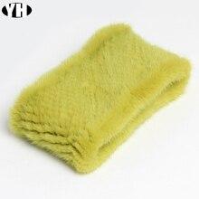แฟชั่น Lady Real Mink FUR ผ้าพันคอผ้าพันคอฤดูหนาว WARM ขนสัตว์ Mink แท้แหวนผ้าพันคอธรรมชาติขนสัตว์คออุ่นผ้าพันคอ