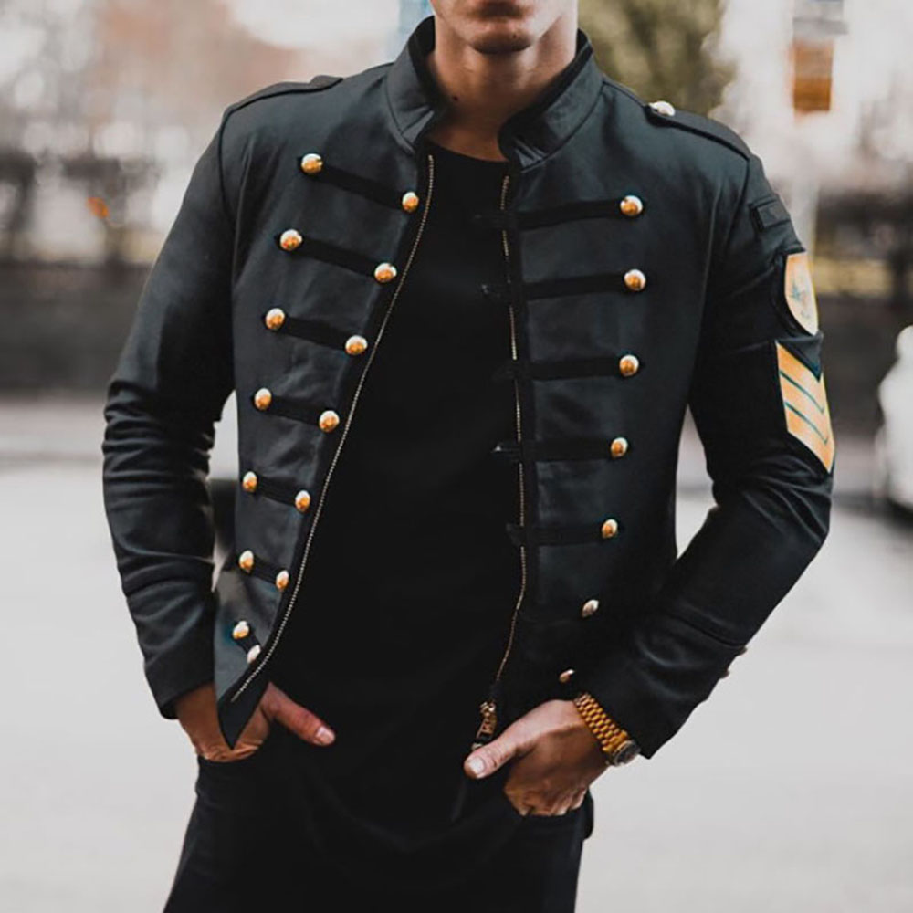 PU Leather Jacket Men Autumn Long Sleeve Black Plus Size 3XL Zipper Beading Short Jacket Men's Winter Coat Outwear Windbreaker