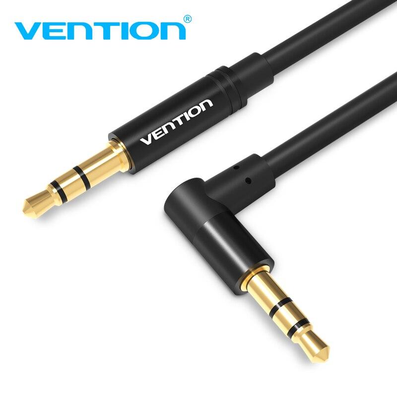 Vention Aux câble 3.5mm Jack mâle à mâle câble Audio 90 degrés à Angle droit pour haut-parleur de voiture casque MP3/4 câble Audio 3.5mm