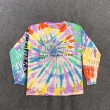 CPFM XYZ Illusions Tie Dye T Shirt Tee Men Women Long Sleeve Kanye West Tshirt Sunday Service Holy Spirit T-shirts