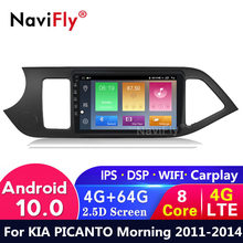 4G LTE Android 10 4G +64G IPS DSP For 2011 2012 2013 2014 KIA PICANTO Morning kia Car dvd Radio Multimedia Video Player GPS WIFI