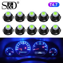 10pcs T4.7 LED Bulb Super Bright High Quality LED Car Board Instrument Panel Lamp Auto Dashboard Warming Indicato 12V