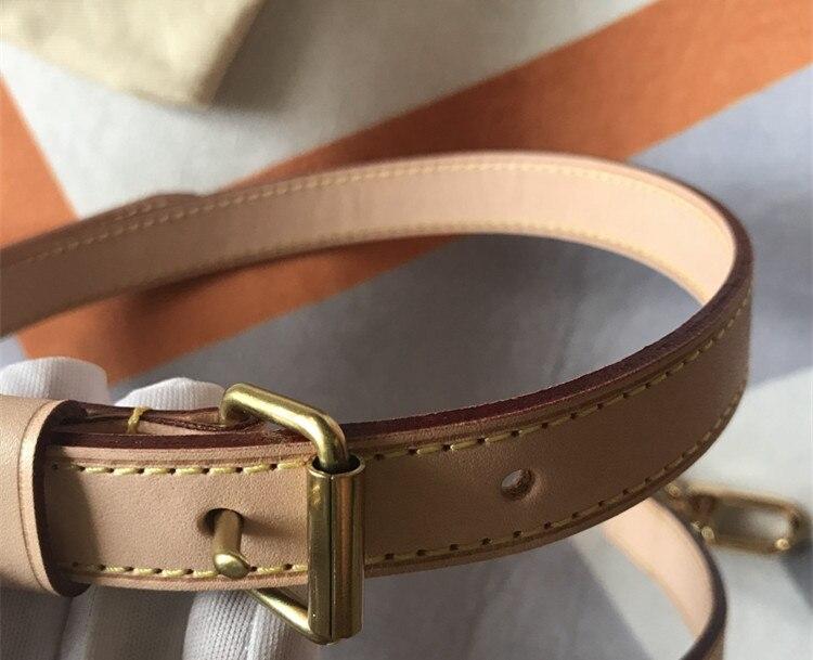 Partes de bolsos y accesorios bolsos de marca correa de cuero genuino longitud 115cm bolso de alta calidad de cuero curtido vegetal correa de hombro - 3