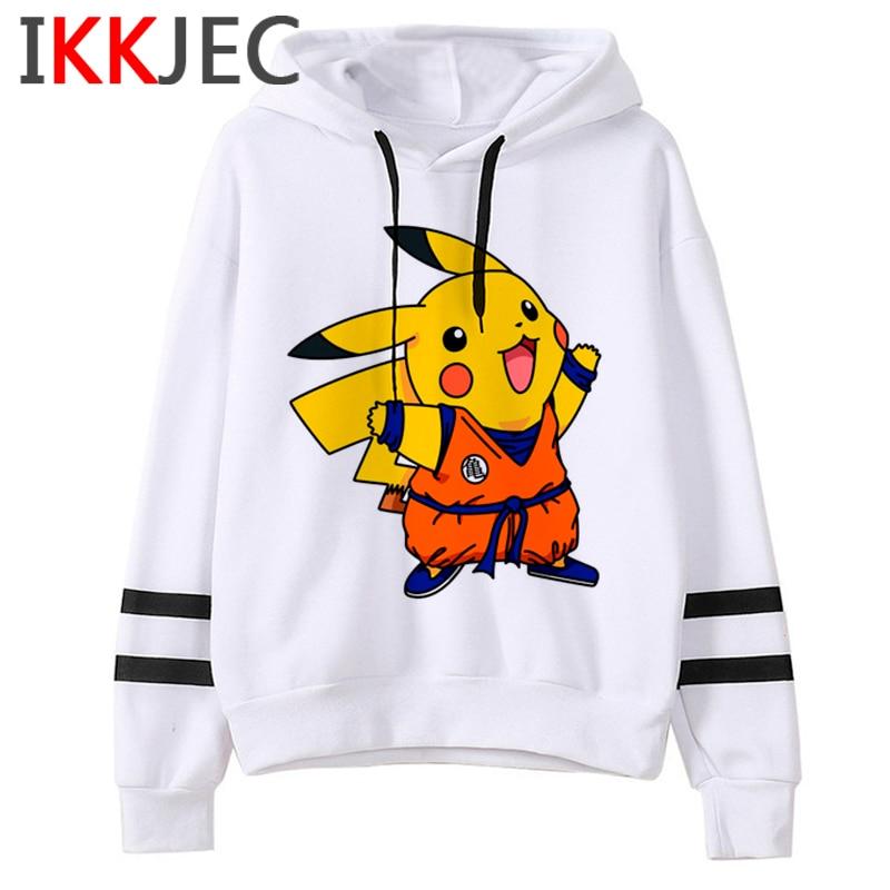 Pokemon Go Funny Cartoon Warm Hoodies Men/women Cute Pikachu Japanese Anime Sweatshirts Fashion 90s Steetwear Hoody Male/female 3