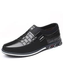 Мужская повседневная обувь из натуральной кожи; бренд года; мужские лоферы; мокасины; дышащая обувь без шнуровки; Цвет Черный; обувь для вождения; большие размеры 38-46