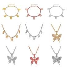 Bracelet-Set Necklace Wedding-Jewellry Imitation-Fairy Butterfly Fashion Brand European