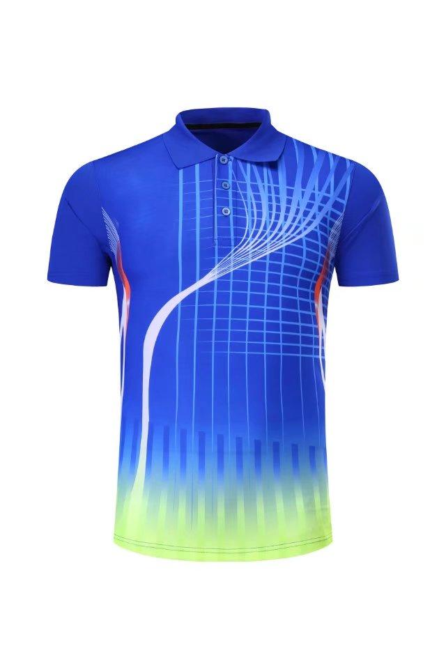 Профессиональная быстросохнущая рубашка для игры в бадминтон для мужчин и женщин, теннисная футболка s, спортивная рубашка поло для гольфа, футболка для пинг-понга-5
