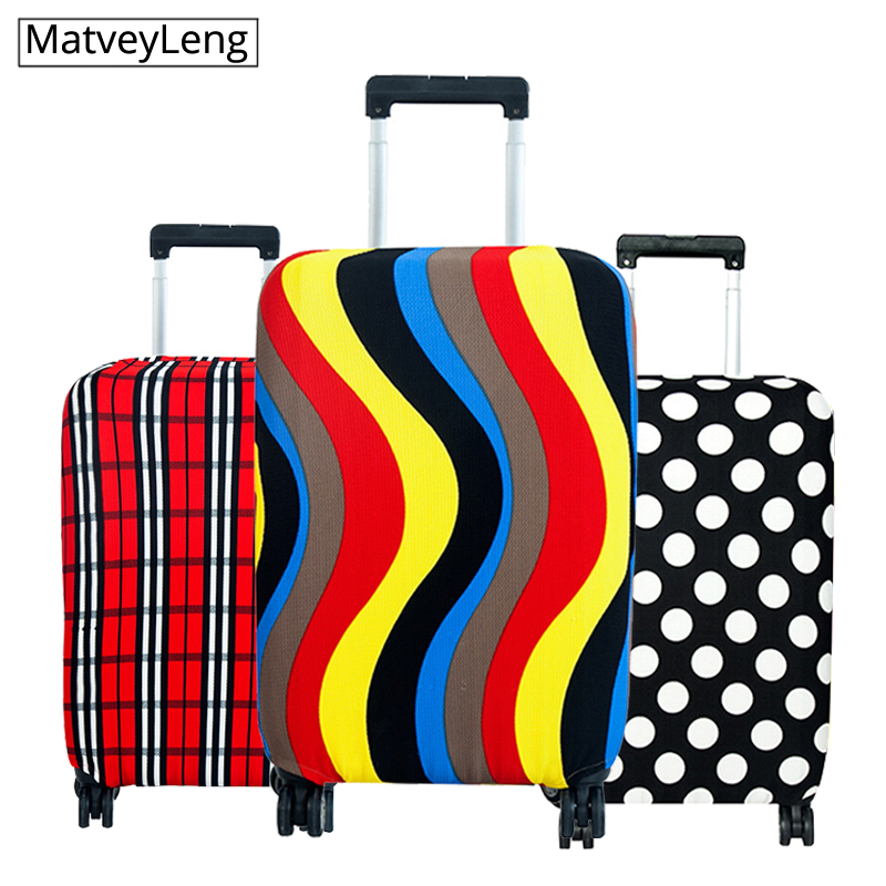 High Qualit  Luggage Cover Travel Elasticity Travel Luggage Dust Cover Protective Suitcase Cover Trolley Case Apply To 18-30 In