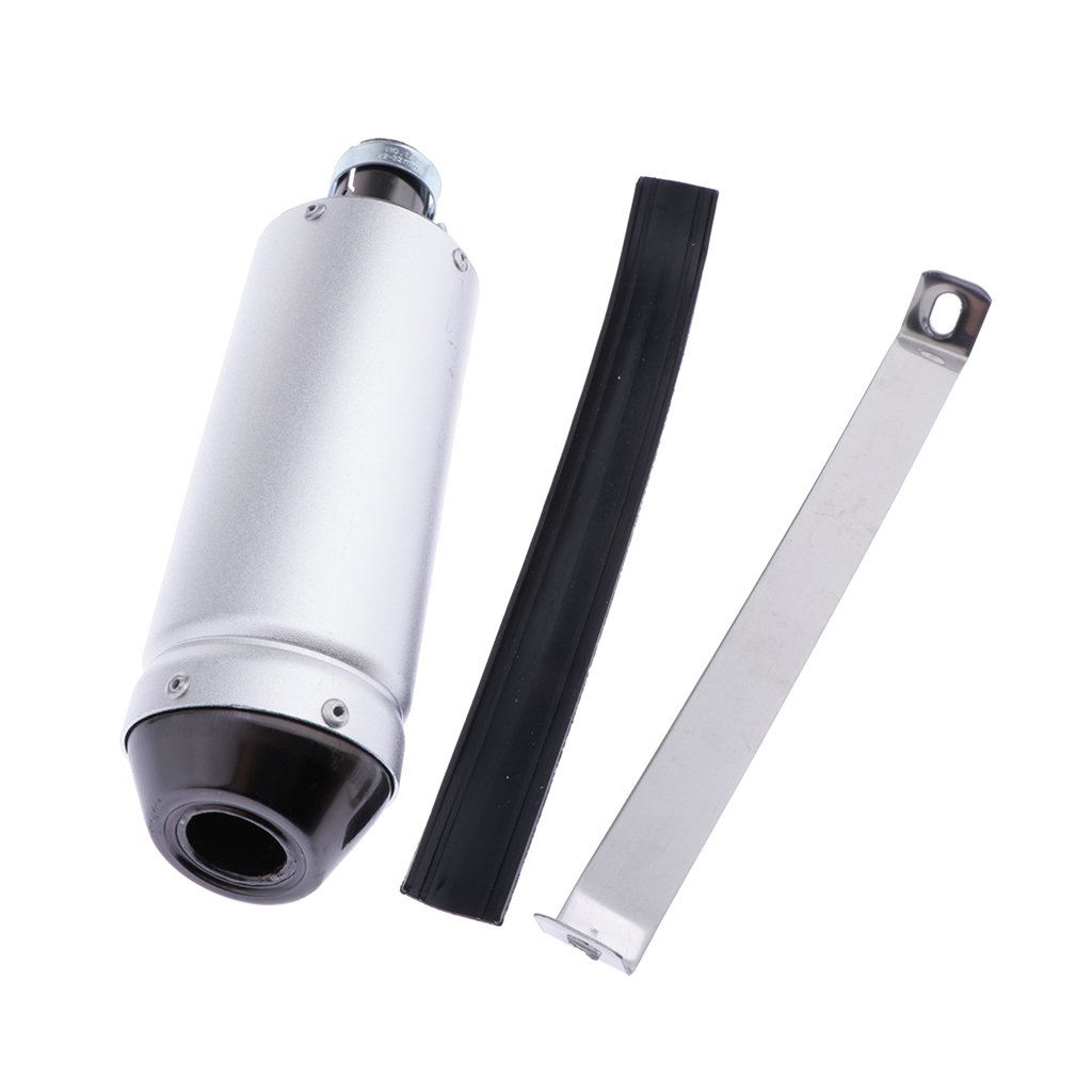 Motorcycle Exhaust Pipe Muffler 28mm Adapter Inlet Tail Connector Modified For 50/70/90/110/125CC Scooter ATV Quad Dirt Bike Etc