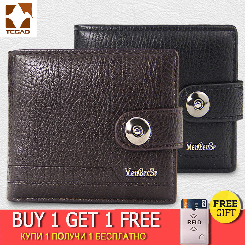 Men's Wallet Made Of Leather Genuine Purse Short Hasp Portmoney Slim Port Money Billeteras Para Hombre Cuero Carteira Masculina