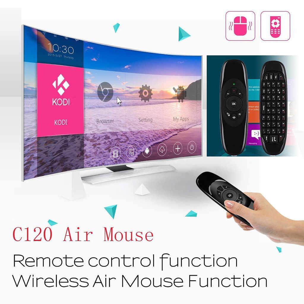 20 # C120 2.4G sans fil Mini Air 1000DPI souris clavier à distance pour Smart TV Mini PC Air souris Rechargeable clavier sans fil