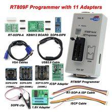 Mais novo rt809f isp programador/rt809 lcd usb programador ferramentas de reparo 24-25-93 série ic com 11 adaptadores