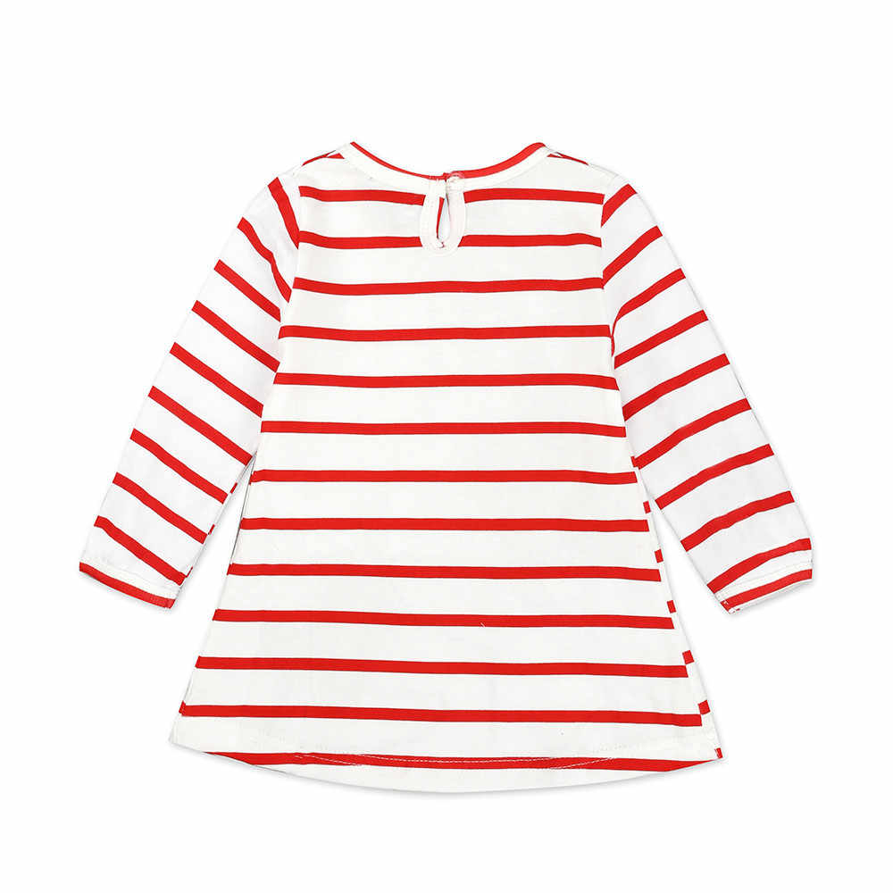 Girls Dress Baby Kids Cotton Casual Summer Dresses Deer Striped Dress Christmas Short Sleeves Princess Dress Pageant Outfits