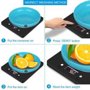Image 4 - AMIR Digital Küche Skala Elektronische Schlanke Lebensmittel Waagen mit LCD Display Home Küche Schmuck Edelstahl Skala
