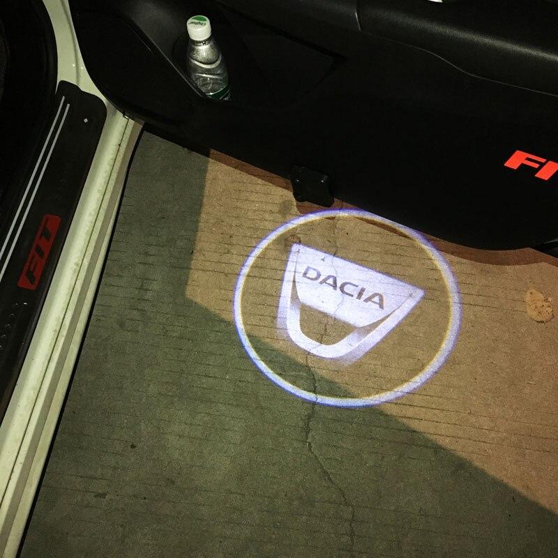Беспроводной светодиодный лазерный проектор на дверь автомобиля, 1/2 шт.