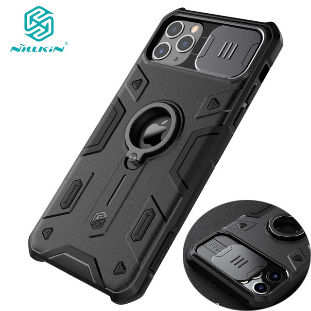 For IPhone 11 Pro Max Case Ring Phone Stand Holder NILLKIN CamShield Armor Case Cover with Camera Protection Drop Shipping 1
