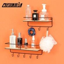 Wall-Shelves Shelf Decorative Bathroom-Accessories Kitchen Hooks Key-Holder Home-Storage