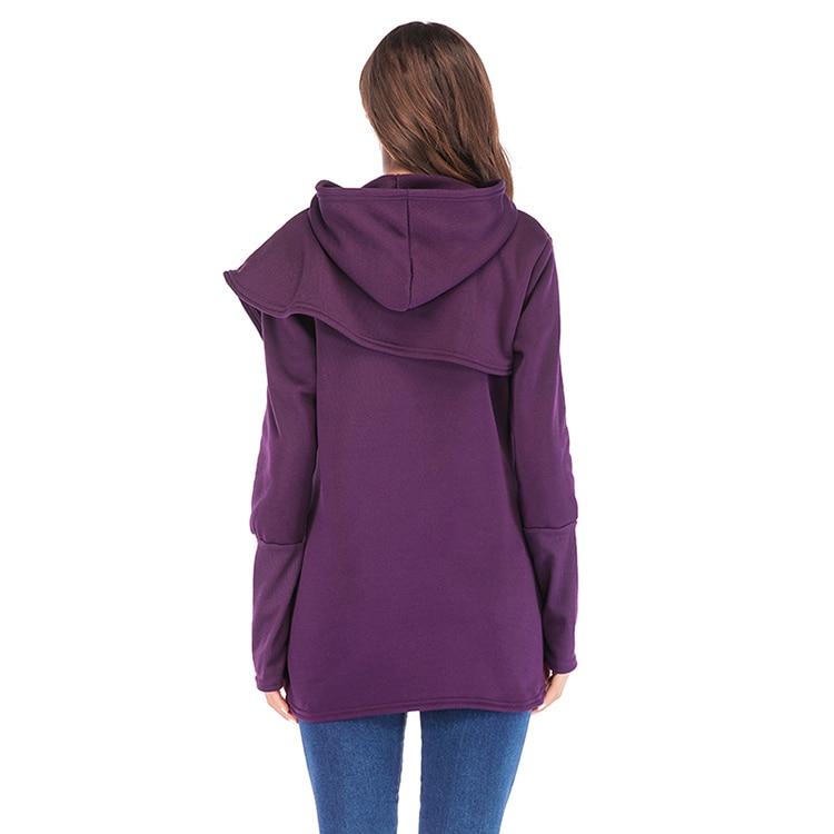Women Hoodies Sweatshirts Autumn Winter Long Sleeve Pocket Pullover Hoodie 37