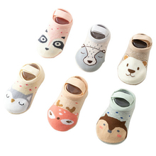 цена на Children Baby Cartoon Floor Socks Autumn Winter Infant Cute Elastic Socks Cotton Anti Slip Baby Girl Boy Socks 1-3 years old