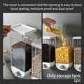 1000 мл 1500 мл легко установить контейнер для хранения зерна домашняя кухня Современный Простой пластиковый настенный влагостойкий герметичн...
